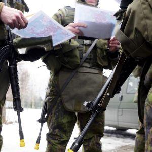 Puolustusvoimien Paikallispuolustus Länsi 1 -harjoitus Laajasalossa Helsingissä.