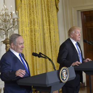 Donald Trump ja Benjamin Netanyahu 15.02.2017.