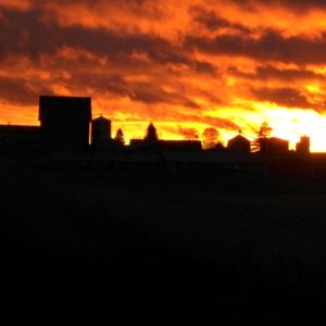 Auringonlasku Ilmajoella.
