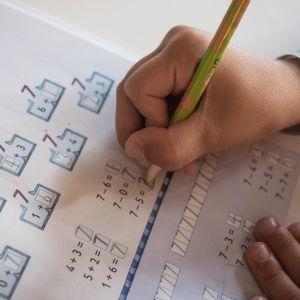 matematiikkaa koulussa.