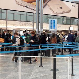 Helsinki-Vantaan lentokentällä oli hiljaista