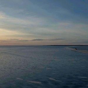 Hailuodon jäätie helmikuussa 2017.