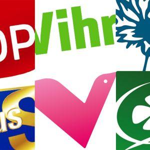 puolueiden logoja