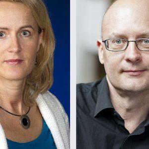 Minna Knus-Galán ja  Kjell Lindroos.