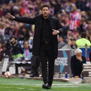 Atlético Madridin valmentaja Diego Simeone.