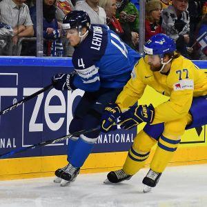Mikko Lehtonen ja Victor Hedman