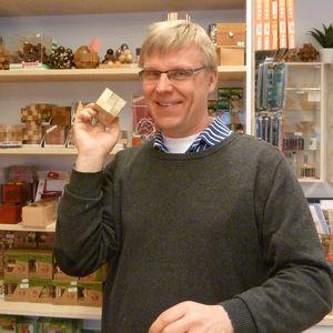 Yrittäjä Tomas Lindén rakastaa pulmapelejä.