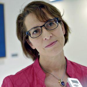 Kristillisdemokraattien puheenjohtaja Sari Essayah tiistaina 13. kesäkuuta.