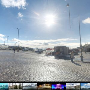 Google street view -näkymä Helsingin kauppatorilta.