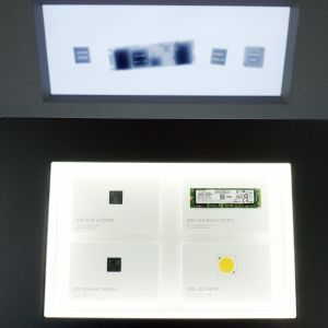 Samsungin elektroniikka esillä yhtiön pääkonttorissa Soulissa.