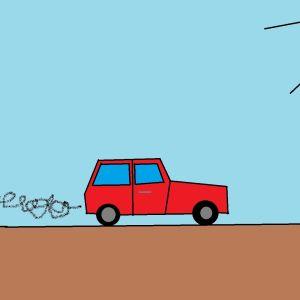 Auto kulkee tiellä.