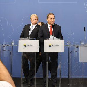 Peter Hultqvist ja Stefan Löfven
