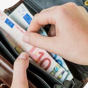 seteleitä lompakossa
