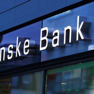 Danske bankin valomainos.