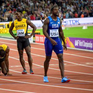 Usain Bolt loukkaantuminen Justin Gatlin