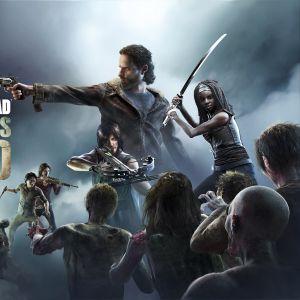The Walking Dead -kännykkäpelin mainoskuva.