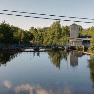 Pirttikosken pato ja vesivoimala Kaustisella