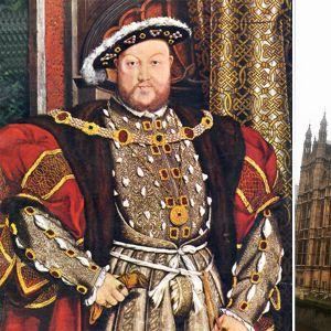 Henry VIII ja Britannian parlamentti kuvakombossa.
