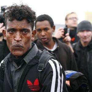 Etiopialainen mies karkotettiin Calais'ta lokakuussa 2016