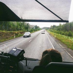 Liikennettä Mikkelin ja Heinolan välillä valtatiellä 5