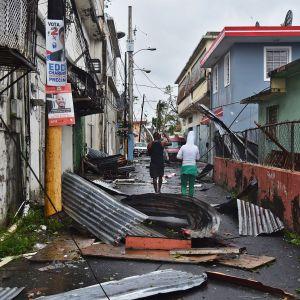Hurrikaani Marian tuhoja San Juanissa.