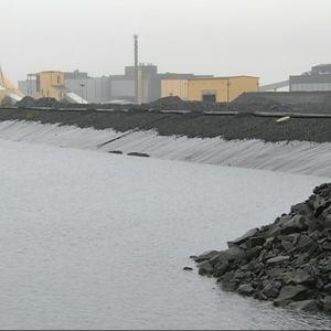 Kevitsan kaivoksen rikastushiekka-allas Sodankylässä