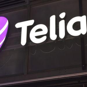 Telian myymälä ja logo Helsingissä.