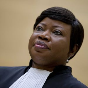 Kansainvälisen rikostuomioistuimen ICC:n pääsyyttäjä Fatou Bensouda.