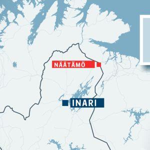 Näätämö suomen kartalla