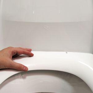 käsi wc-istuimella