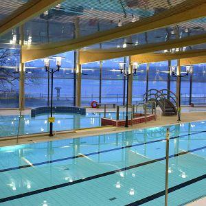 Hämeenlinnan uimahalli sisältä