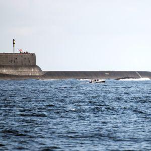 Typhoon-luokan venäläinen sukellusvene.