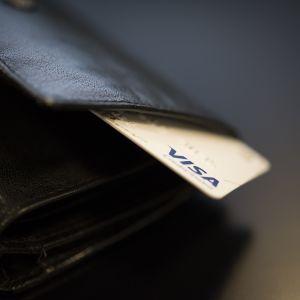 Visakortti lompakossa.