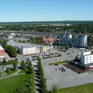 Maisema Seinäjoen rautatieaseman suuntaan Lakeuden Rististä.