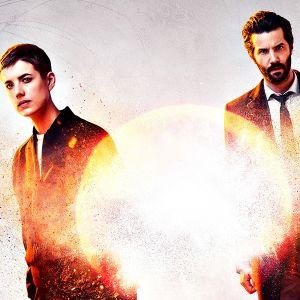 Hard Sun-trillerin päähenkilöt, Elaine Renko (Agyness Deyn) ja rikosylikomisario Charlie Hicks (Jim Sturgess).