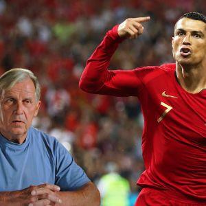 """Urheilutoimittaja Bror-Erik """"Bubi"""" Wallenius ja Cristiano Ronaldo."""