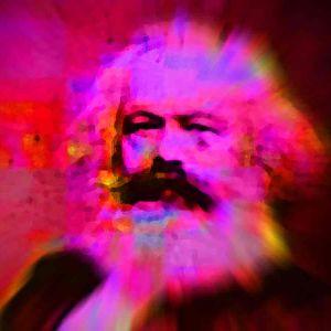 Karl Marx, käsitelty kuva