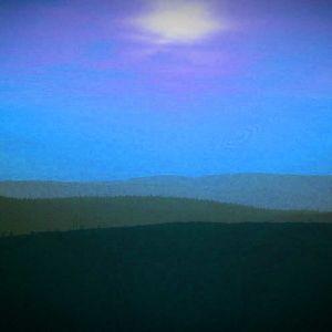 Pohjoisen maisema, sinisävyinen, käsitelty kuva