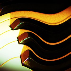 pianon koskettimisto. käsitelty kuva