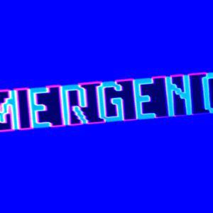 Neontext med ordet Emergency