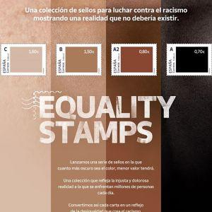ihonväri-postimerkit rivissä