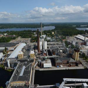 Stora Enson tehdasalue ilmasta.