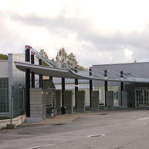 Kuvassa Juuan kunnan terveyskeskus-sairaala.