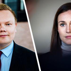 Antti Kurvinen ja Sanna Marin