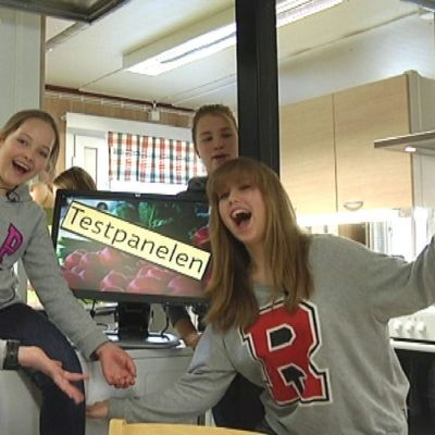 Testpanelen med fyra tjejer