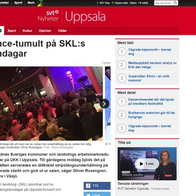 Kuvankaappaus SVT:n jutusta.