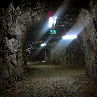 Kaivostunneli sisältä