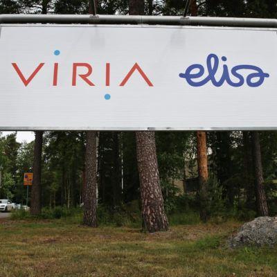 Viria-Elisa skylt.