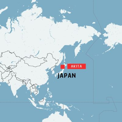 Jordskalvets epicentrum var i Prefekturen Akita i Japan.