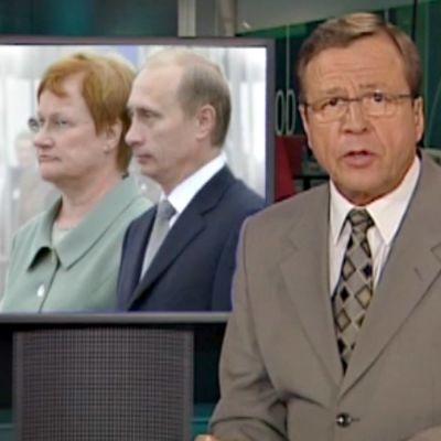 Presidentit Halonen ja Putin